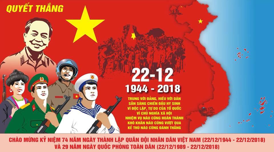 Kỷ niệm Ngày Thành lập Quân Đội Nhân Dân Việt Nam 22/12