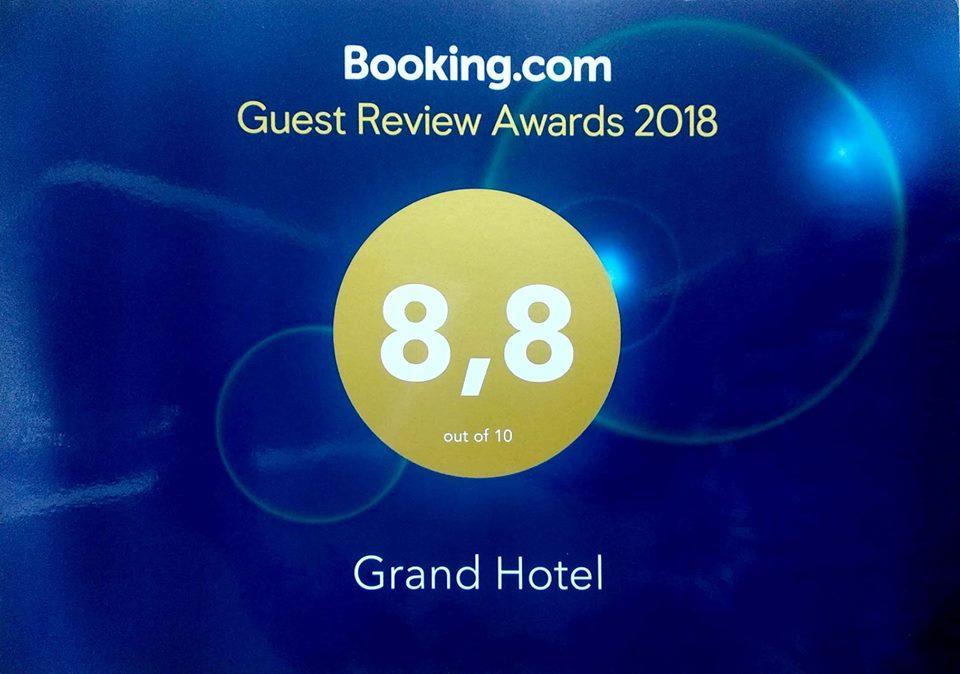 Grand Hotel dành giải thưởng Guest Review Award 2018